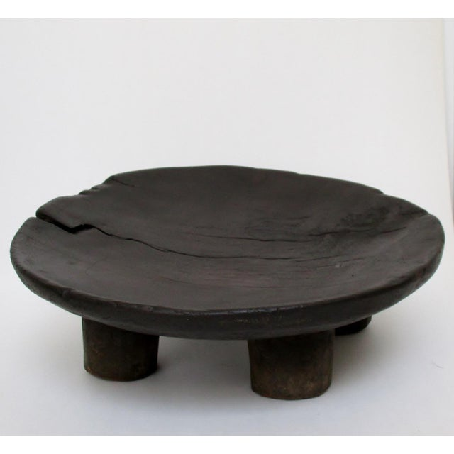 West African Footed Wood Bowl - Image 3 of 8