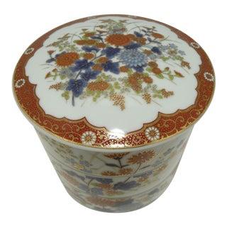 Vintage Japan Imari Porcelain Stacking Bowls - Blue & White & Rust For Sale