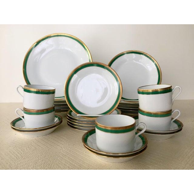 Vintage Richard Ginori Palermo Green 6-Place Dinnerware Set For Sale - Image 10 of 10