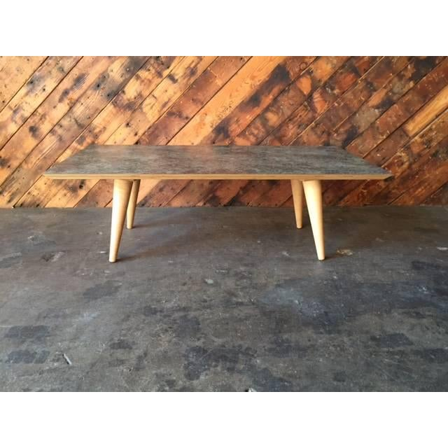 Contemporary Mid-Century Style Formica Coffee Table - Image 4 of 7
