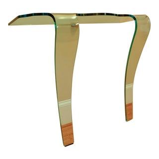 Contemporary Fiam Italia Style Ghost Glass Console Table For Sale