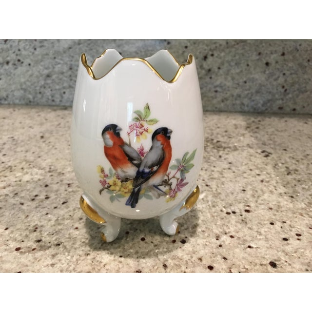 Green Limoges Porcelain Egg Vase For Sale - Image 8 of 8