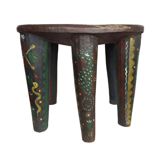 """African Lg Nupe Stool Nigeria 16.75"""" H by 20.5"""" W For Sale - Image 9 of 13"""