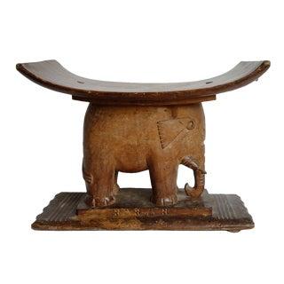 Asante Elephant Stool For Sale