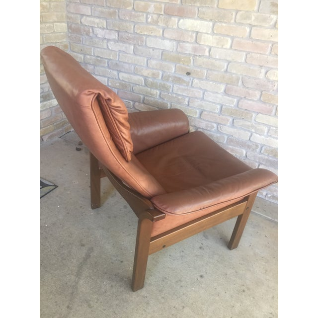 G Mobel Sweden Reclining Lounge Chair & Ottoman For Sale In Dallas - Image 6 of 11