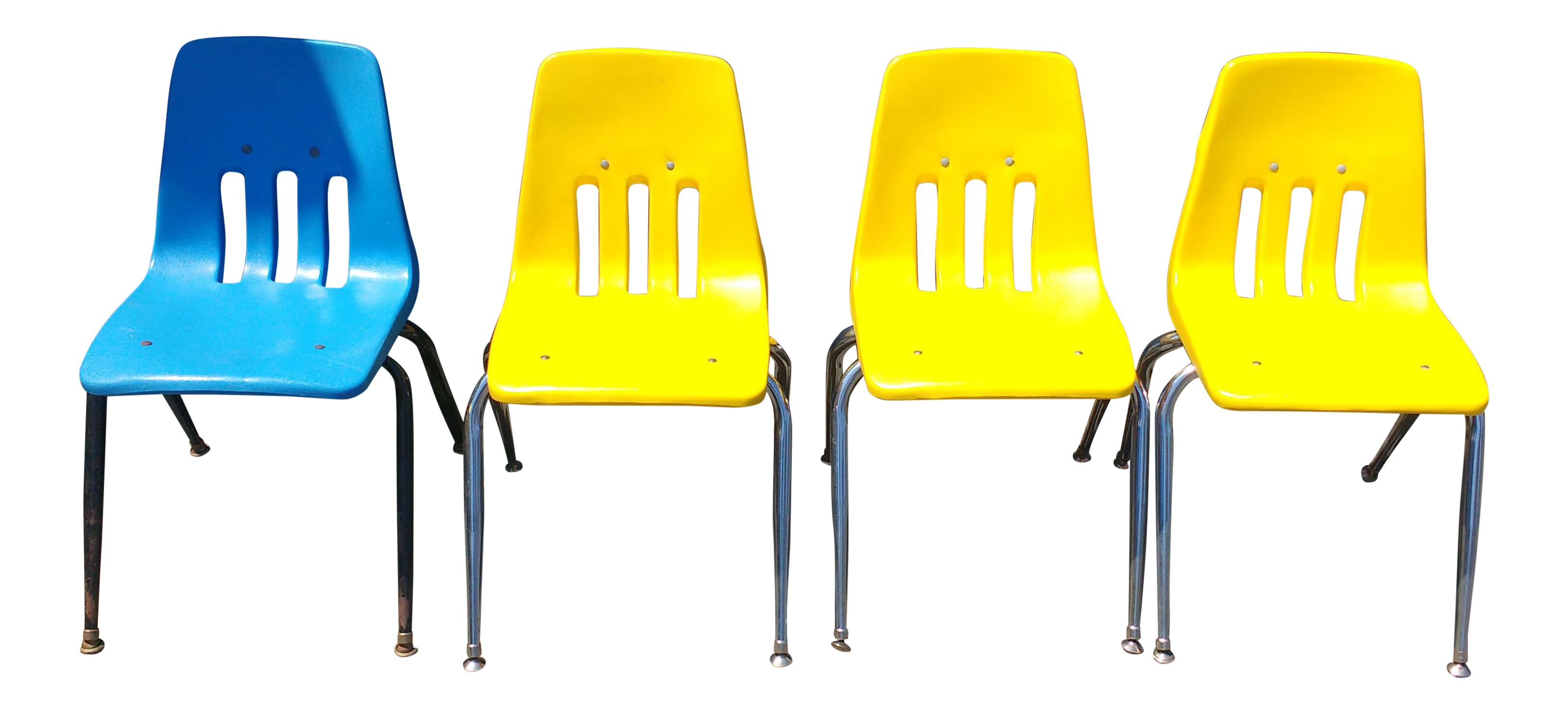 Virco Los Angeles Stacking Chairs   Set Of 4   Image 1 Of 6