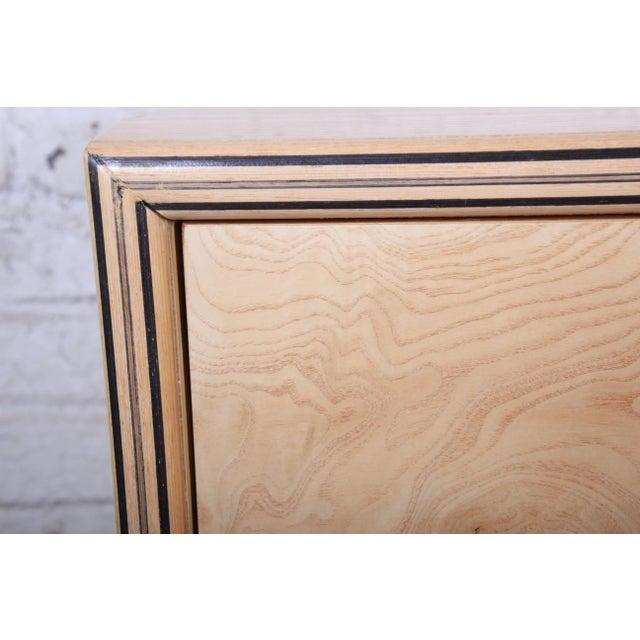 Burl Wood Long Dresser Credenza by Henredon For Sale - Image 10 of 13