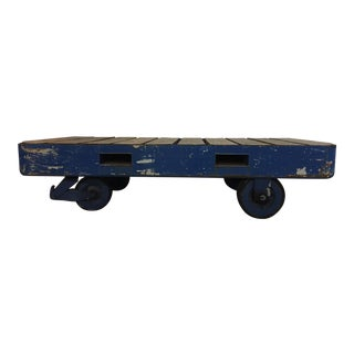 Reclaimed Wood and Iron Cart Coffee Table