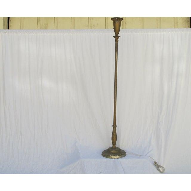 Antique 1920s Torch Floor Lamp - Image 6 of 7