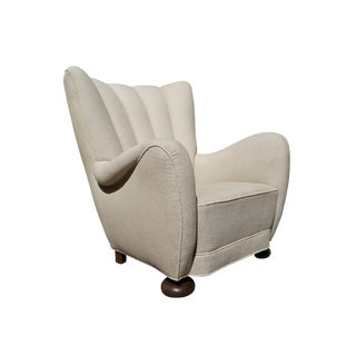 Attributed to Flemming Lassen Danish 1930's Club Chair