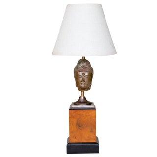 Antique Bronze Buddha Fragment Lamp