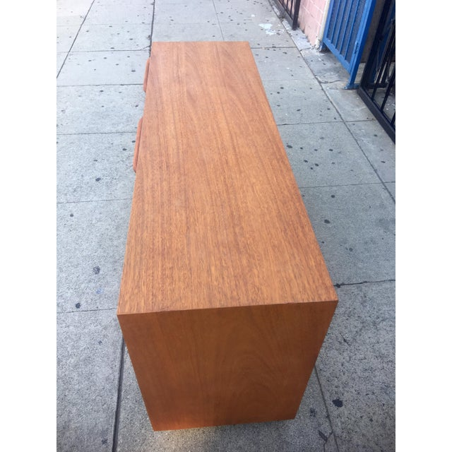 Brown Mid-Century Sculptural Credenza with Cane Details For Sale - Image 8 of 10