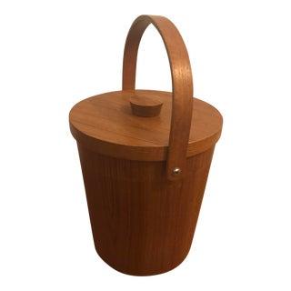 Mid-Century Modern Teak Ice Bucket