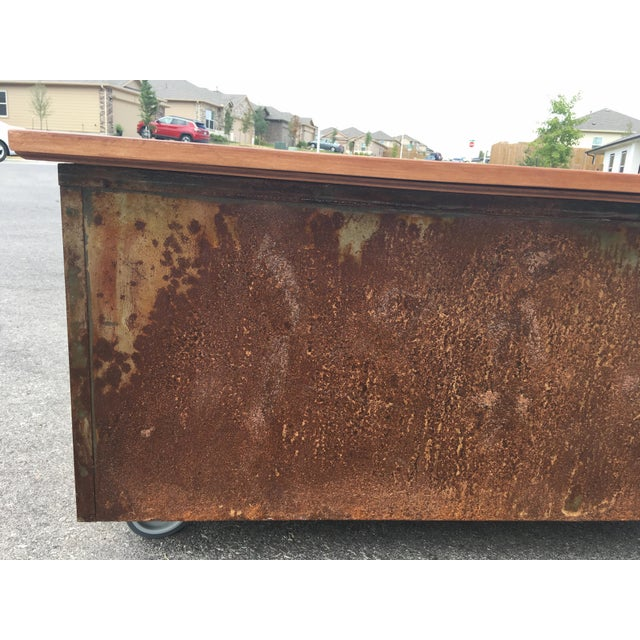 1980s Industrial Reclaimed Flat File Coffee Table For Sale - Image 10 of 13