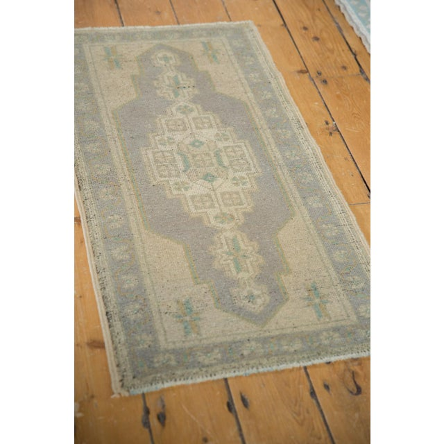 "1970s Vintage Distressed Oushak Rug Mat Runner - 1'9"" X 3'4"" For Sale - Image 5 of 7"