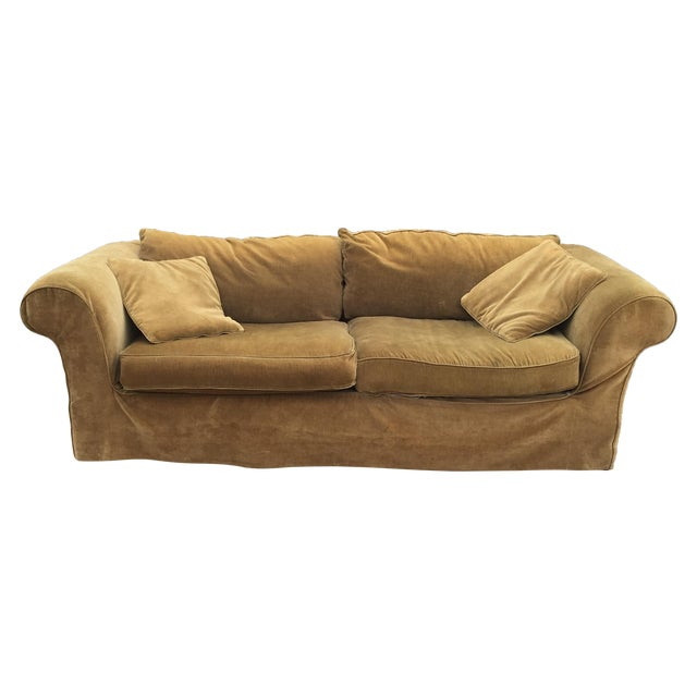 Mitchell Gold Slip Cover Sofa - Image 1 of 8