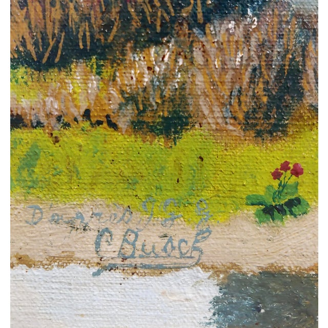 """C. Busch """"Dutch Windmill"""" Oil Painting For Sale In Los Angeles - Image 6 of 10"""