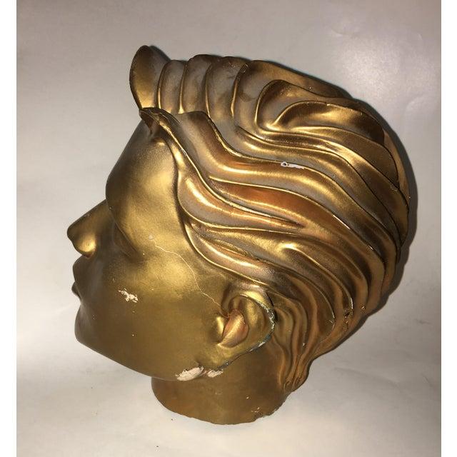 Gold Vintage Fiberglass Man Mannequin Head For Sale - Image 8 of 13