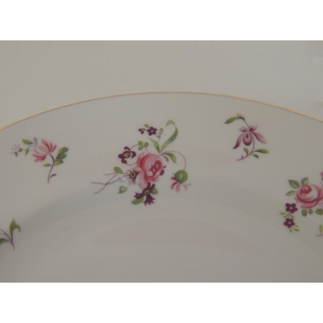 Late 20th Century Pink and White Limoges Dessert Floral Plate For Sale - Image 5 of 6