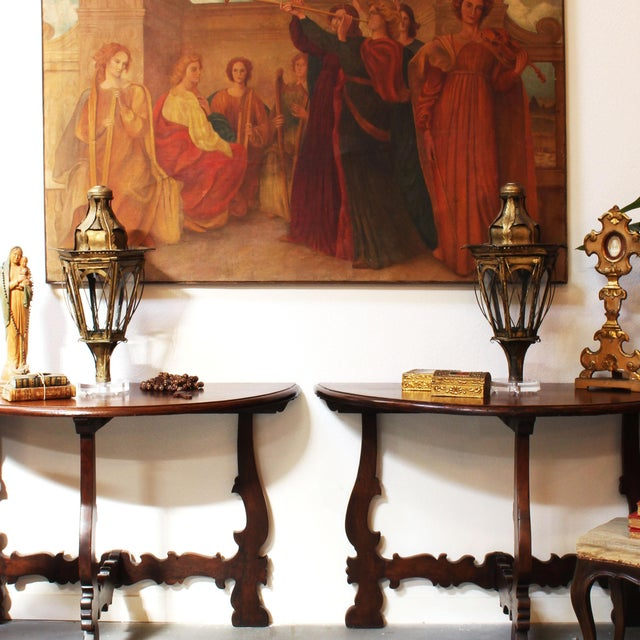 Pair of 19th Century Italian Processional Lanterns For Sale - Image 10 of 11