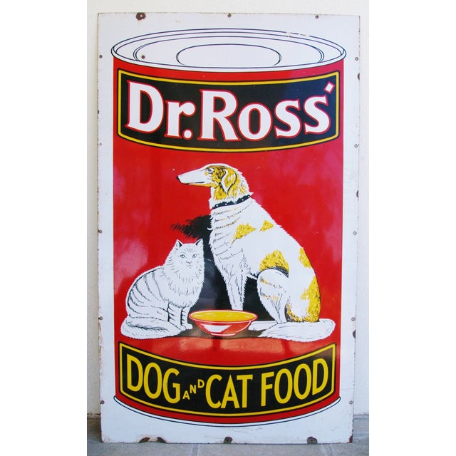 1930s Dr. Ross Dog & Cat Food Advertising Sign - Image 7 of 8
