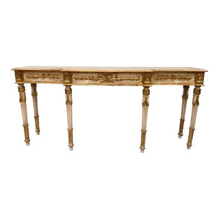 Italian Carved Giltwood Console Table For Sale