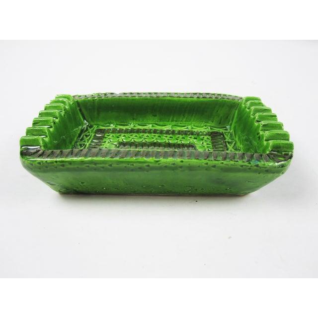 Signed Green Bitossi Soap Dish Ashtray - Image 3 of 4
