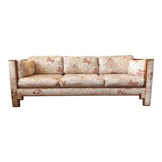 Vintage 1980's Print Sofa With Upholstered Frame For Sale
