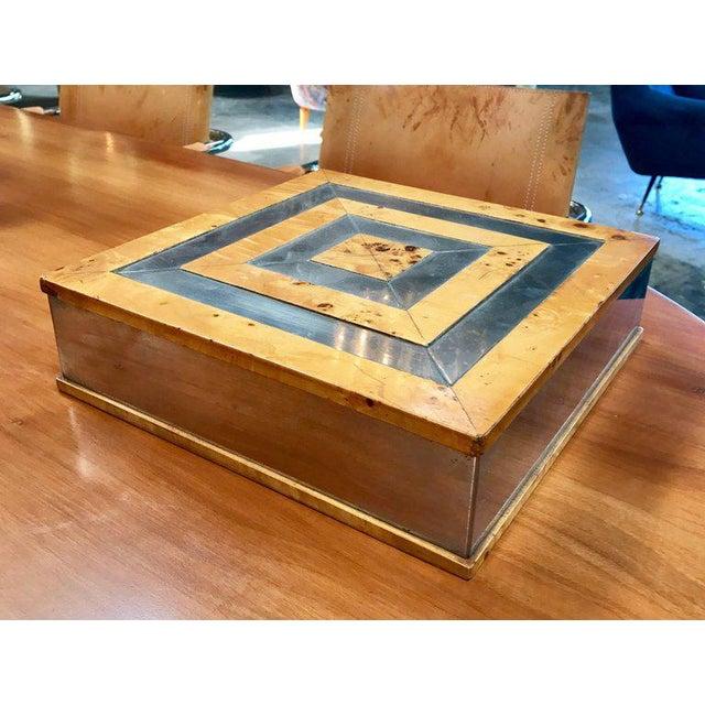 1960s Tommaso Barbi birch jewelry box.