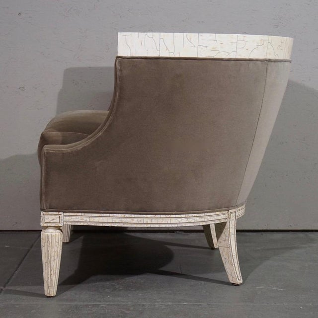 Velvet Barrel Chair - Image 5 of 8