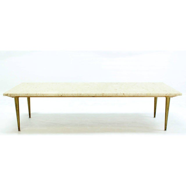 25a1501d00eb Very sleek design mid century modern marble-top coffee table. Nice hardwood  bevelled frame