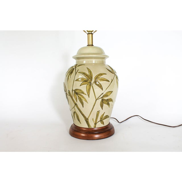 Mid 20th Century Frederick Cooper Table Lamp W/ Bamboo Motif For Sale - Image 5 of 11