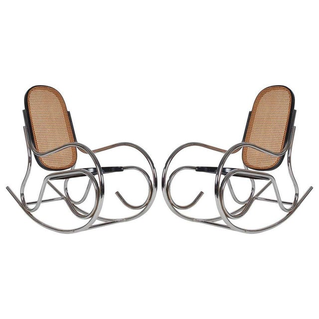 An awesome chrome scrolled rockers giving a Classic a fresh modern look. It features a sturdy chrome tubular frame with...