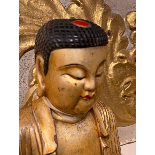 19th Century 19th Century Chinese Qing Dynasty Carved Buddha For Sale - Image 5 of 8