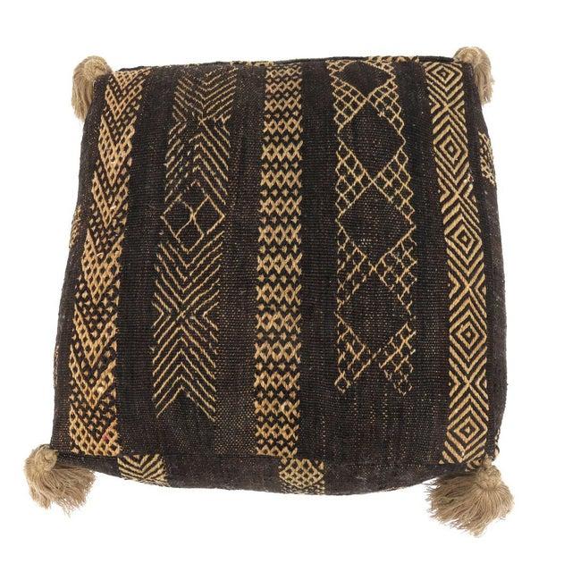 Black Vintage Black Moroccan Pouf For Sale - Image 8 of 11