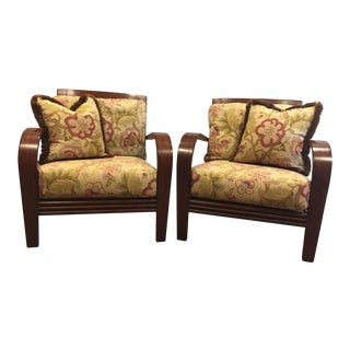 Ethan Allen Jamaica Arm Chairs - a Pair For Sale