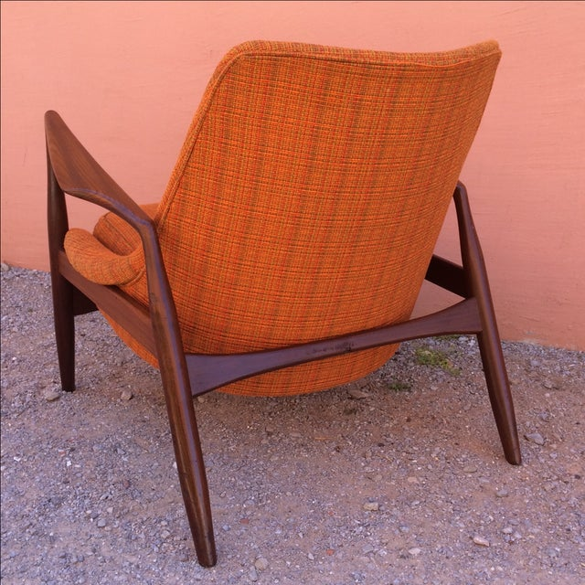 Orange Rare Ib Kofod-Larsen 'Seal' Easy Chair For Sale - Image 8 of 10