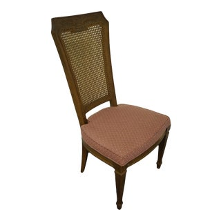 Drexel Heritage Country French Cane Back Dining Side Chair For Sale