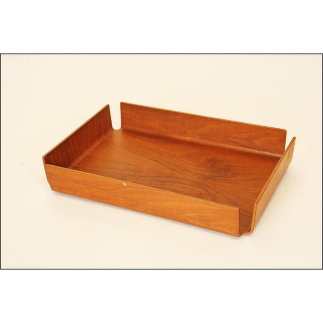 Danish Modern Teak Desk Tray - Image 2 of 11