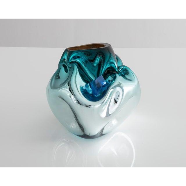 Unique petite crumpled sculptural vessel - Image 5 of 5