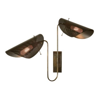 Tulle 2 Wall Lamp in Bronze + Black Enamel Mesh by Blueprint Lighting, 2019 For Sale