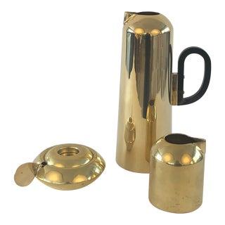 Tom Dixon Brass Form Jug, Milk Jug, Sugar Bowl and Spoon For Sale