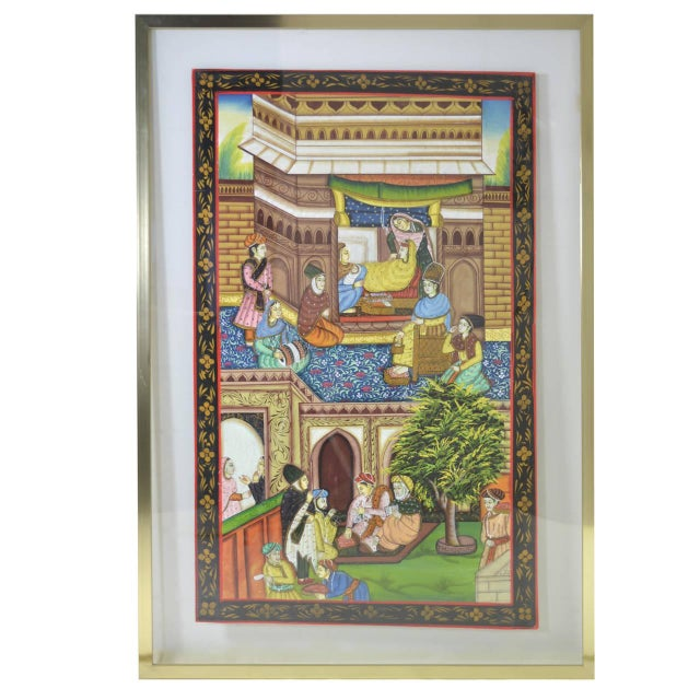 Persian Watercolors in Floating Frames - Set of 3 - Image 3 of 9