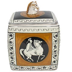 Italian Classical Pottery Box For Sale