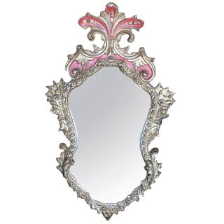 Rococo Style Gilt, Shaped Frame Mirror For Sale
