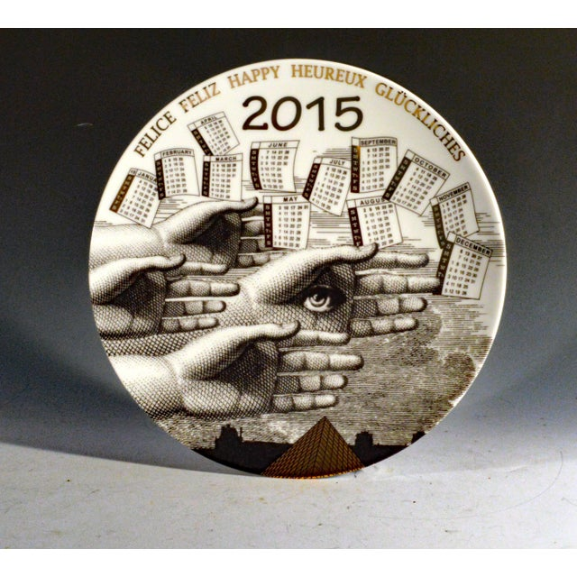 Barnaba Fornasetti Porcelain Calendar Plate 2015. Number 150 of 700 made. - Image 4 of 4