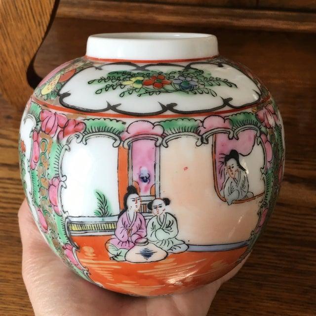 Petite Rose Medallion Ginger Jar For Sale - Image 4 of 13