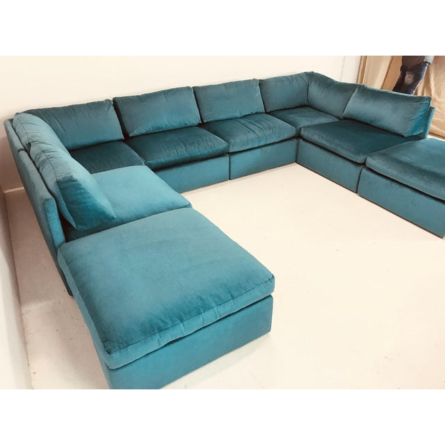 Textile Milo Baughman Modular Sofa For Sale - Image 7 of 12