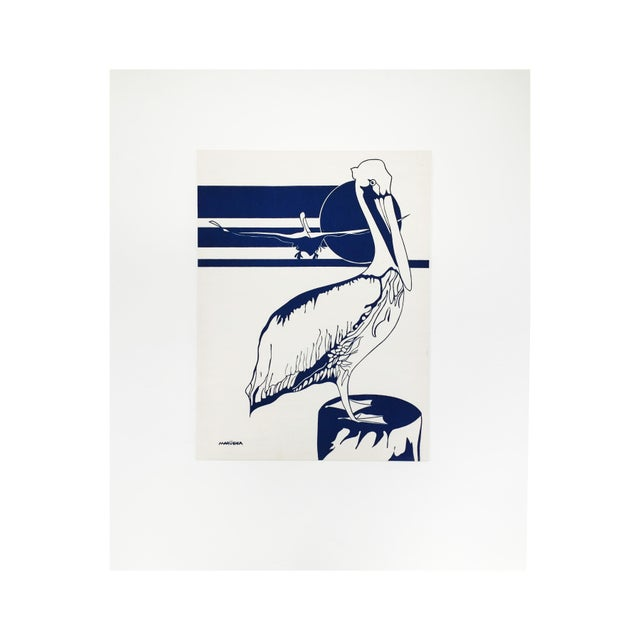 Vintage Marüshka Pelican Screen Print - Image 1 of 4
