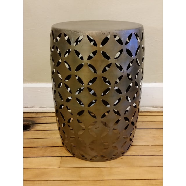 Marvelous Geometric Cut Garden Stool Chairish Andrewgaddart Wooden Chair Designs For Living Room Andrewgaddartcom